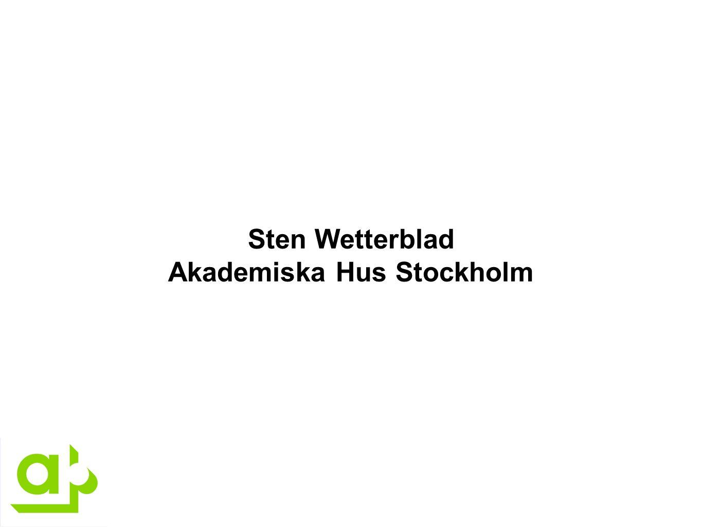 Sten Wetterblad Akademiska Hus Stockholm