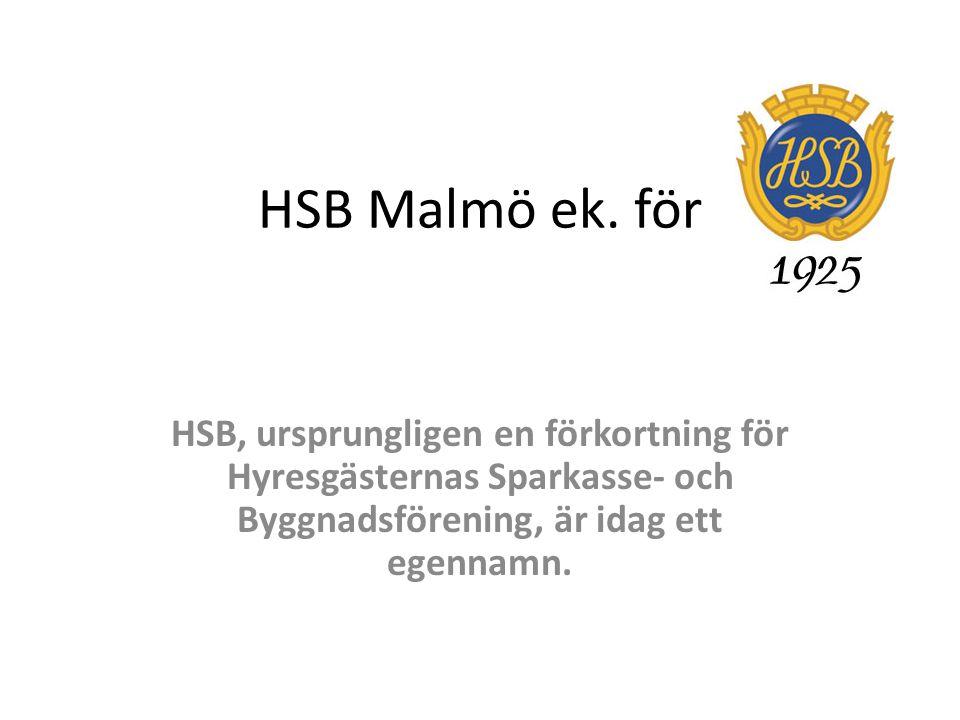 Full House HSB Malmö är en av 33 regionala HSB- föreningar i landet, och antalet medlemmar är drygt 40 000, varav nästan 4 000 sparar till en HSB-lägenhet.