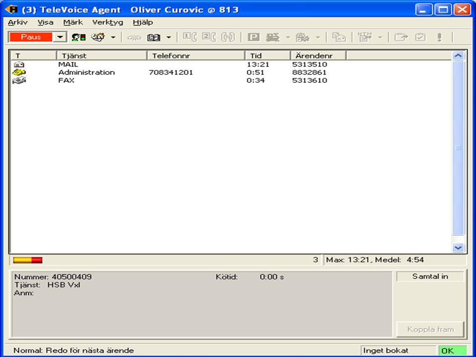 Bild på handläggare/telefonist Gärna en bild där det ligger mail och/eller fax + samtal i kön