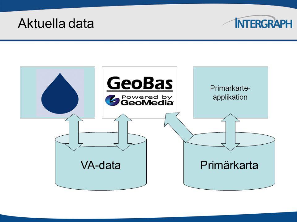Aktuella data VA-dataPrimärkarta Primärkarte- applikation