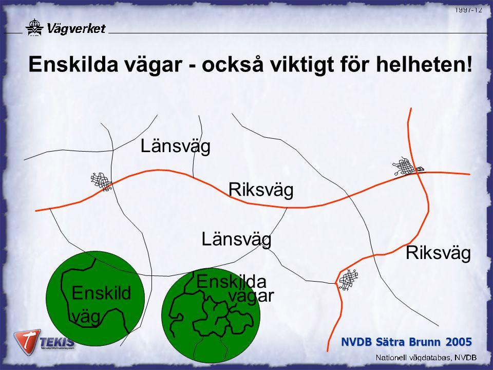 NVDB Sätra Brunn 2005 Enskilda vägar - också viktigt för helheten.