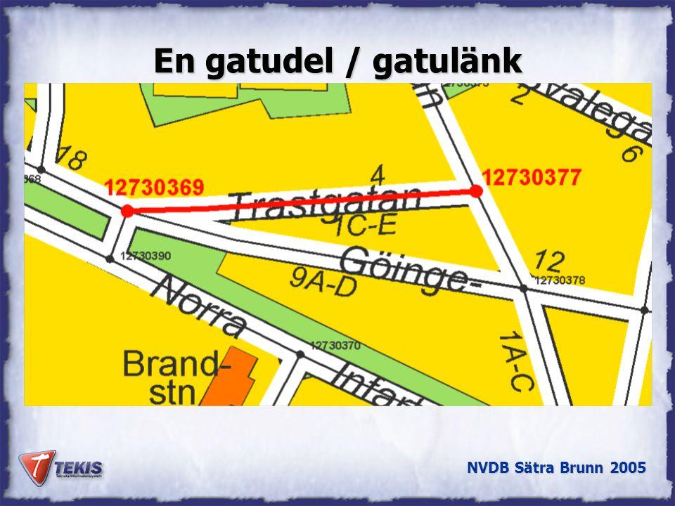 NVDB Sätra Brunn 2005 Lokala nät integreras med riksnäten Riksväg Länsväg