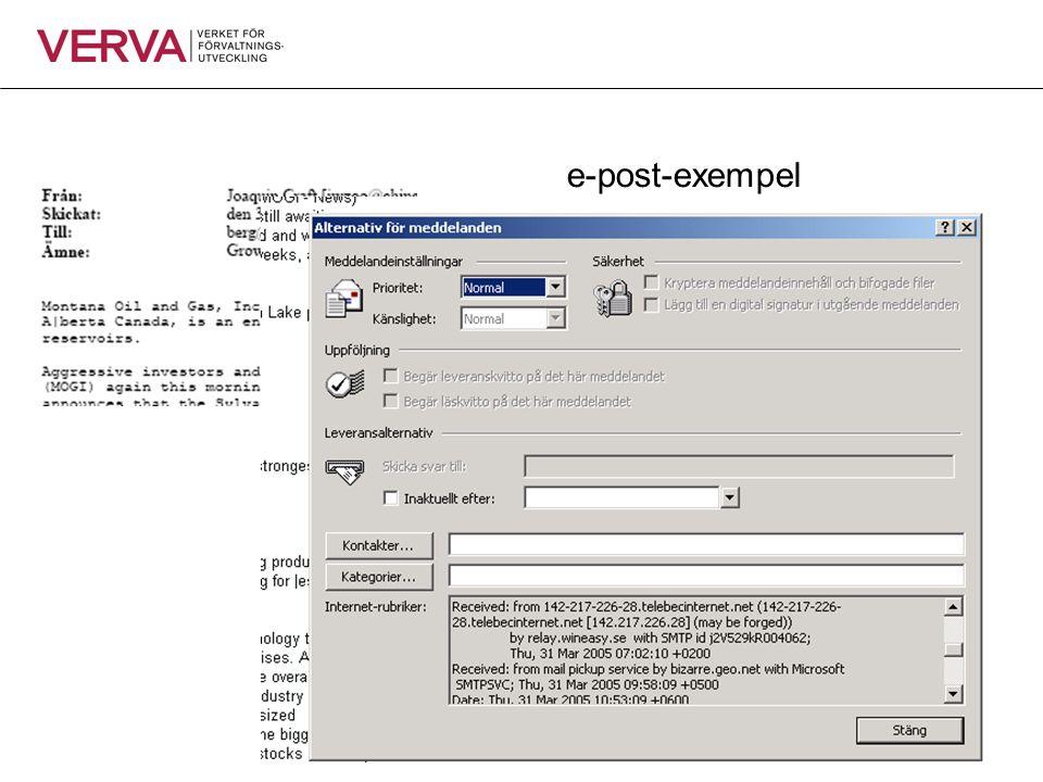 e-blanketter scanning/ tolkning sökmotorer Utdata: e-post diarieföring Office Övriga befintliga system Indata: organisationsportal Funktionsmodell för informationsförsörjning ärendehantering/workflow/process management document-/content mgmt records management/e-arkivering publicering/ presentation/ export XML- och integrationsverktyg e-id SHS infra- tjänst Modellerings-verktyg e-id SHS infra- tjänst