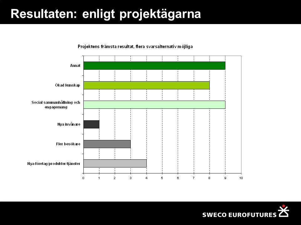 Resultaten: enligt projektägarna