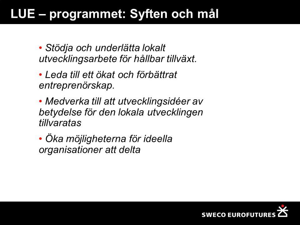 LUE-programmet: programlogiken