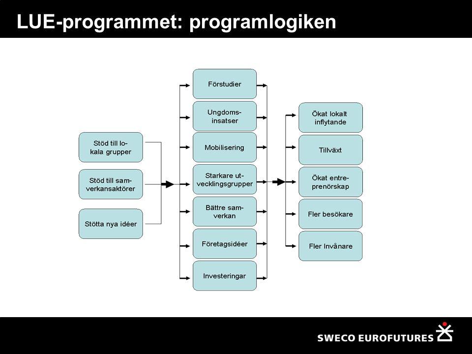 Logiska hopp och målgap Otydligt om programmets effektpåverkan Hur ska resultaten av projekten påverka programmets mål.
