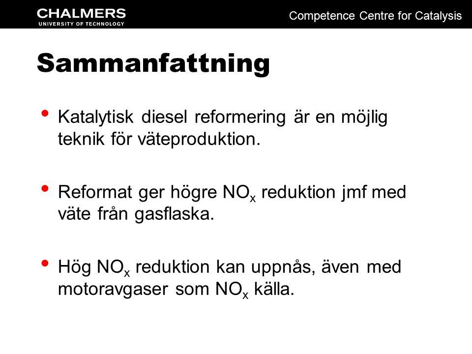 Sammanfattning Katalytisk diesel reformering är en möjlig teknik för väteproduktion.