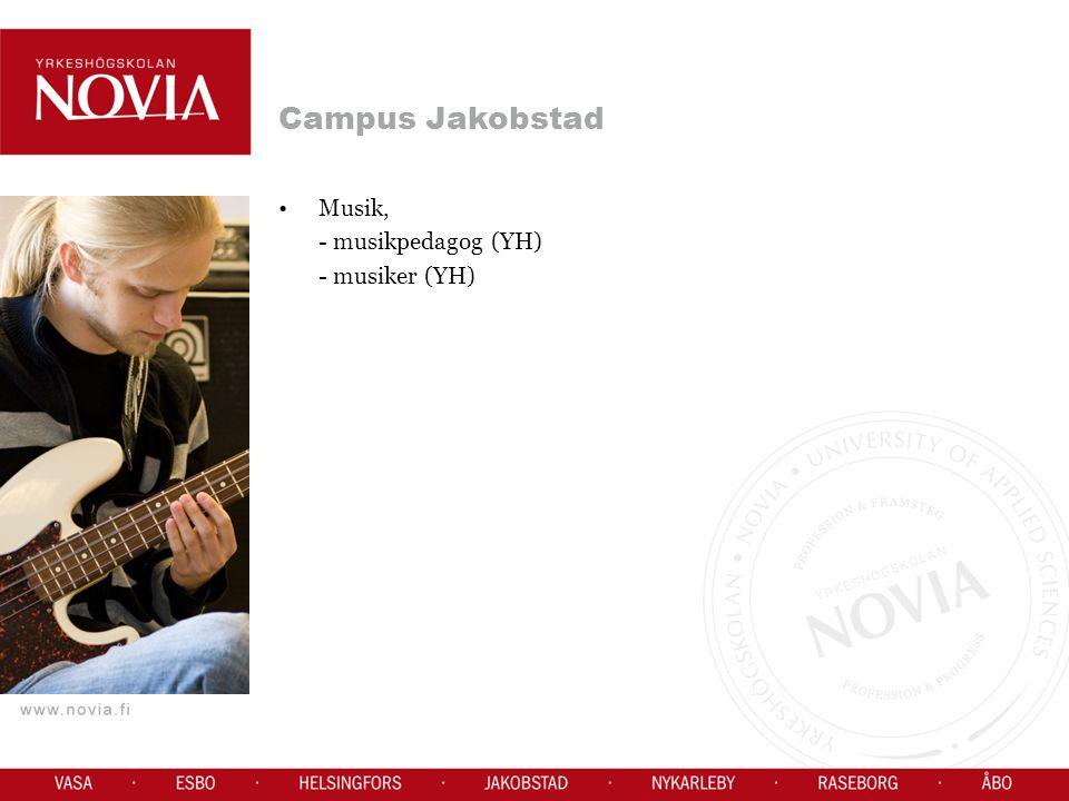 Campus Jakobstad Musik, - musikpedagog (YH) - musiker (YH)
