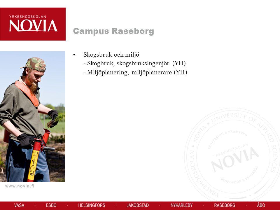 Campus Raseborg Skogsbruk och miljö - Skogbruk, skogsbruksingenjör (YH) - Miljöplanering, miljöplanerare (YH)