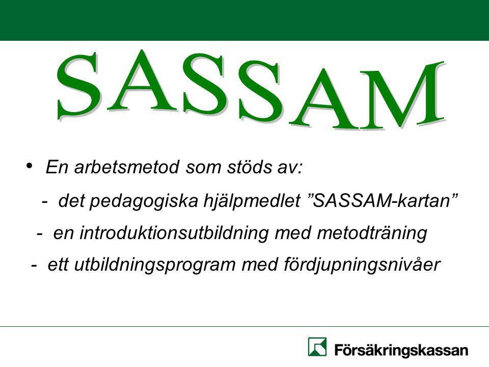 En arbetsmetod som stöds av: - det pedagogiska hjälpmedlet SASSAM-kartan - en introduktionsutbildning med metodträning - ett utbildningsprogram med fördjupningsnivåer