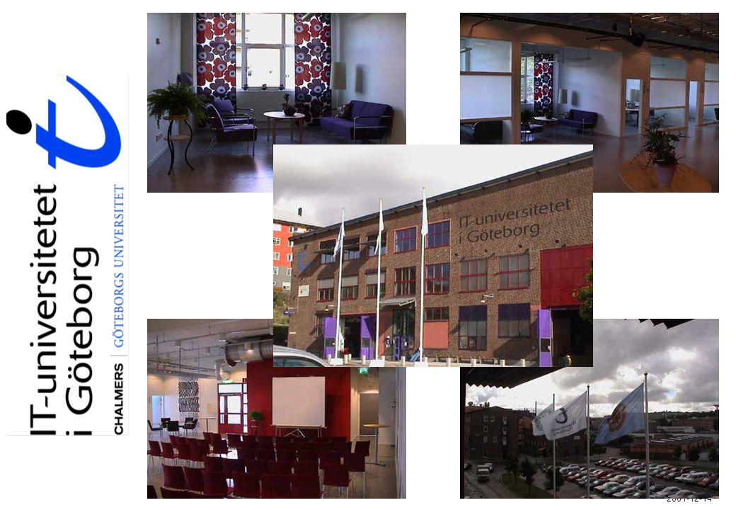 Nya utbildningar hösten 2001 Magisterprogram 60 p Business Technology Kalevi Pessi Jan Ljungberg, Hans Björnsson Mobil Informatik Urban Nuldén, Bo Dahlbom Informations- och kommunikationsteknologi och lärande (IKT) Berner Lindström, Annika Bergviken-Rensfeldt Människa- Dator Interaktion.