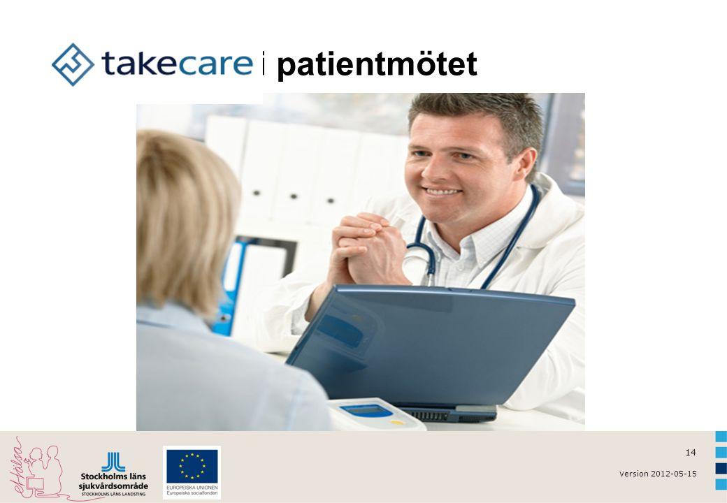 v ersion 2012-05-15 14 TakeCare i patientmötet