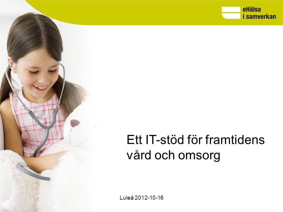 www.cehis.se 2015-03-29 sid 4 Det handlar om en förändring av vården i samspel med utveckling av IT-stödet Se patienten som en aktör i sin egen vårdprocess med tillgång till information och tjänster Hålla samman vårdprocessen med många utförare Ge bättre förutsättningar för en kunskapsstyrd vård Luleå 2012-10-16