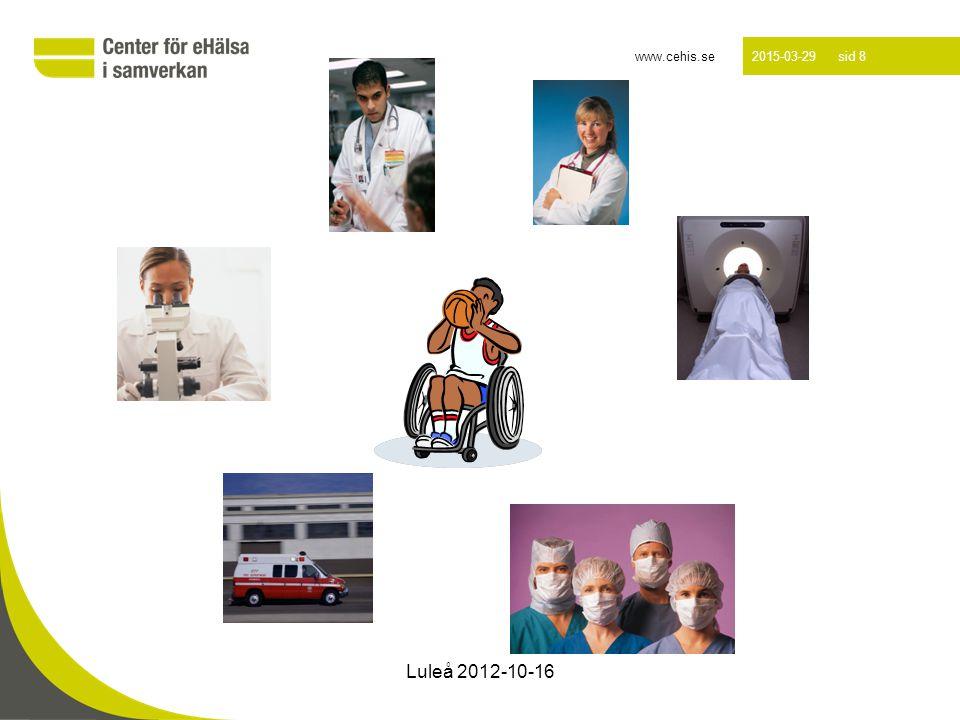 www.cehis.se 2015-03-29 sid 9 Luleå 2012-10-16