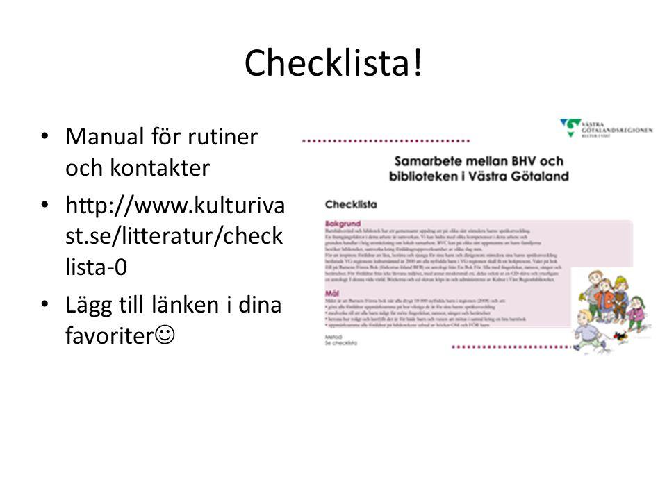 Checklista.