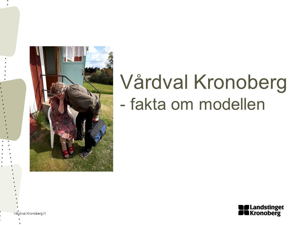 Vårdval Kronoberg /1 Vårdval Kronoberg - fakta om modellen