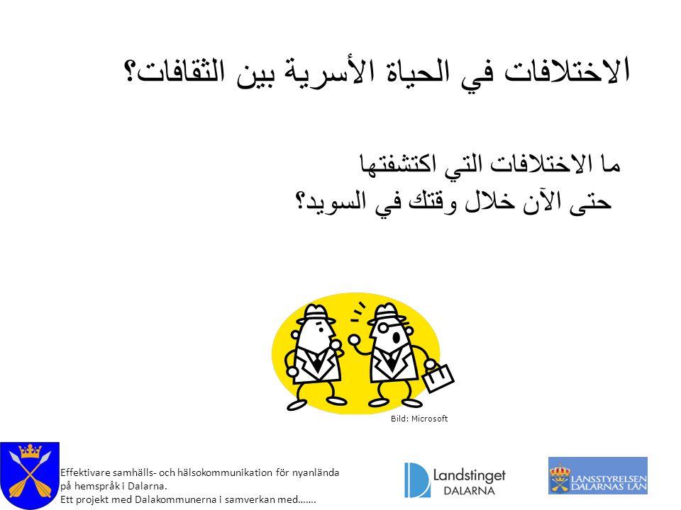 Effektivare samhälls- och hälsokommunikation för nyanlända på hemspråk i Dalarna. Ett projekt med Dalakommunerna i samverkan med……. Bild: Microsoft ا