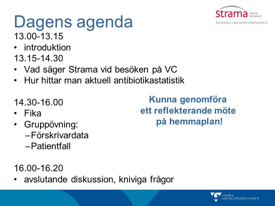 okt 2012 - sept 2013 Tjörn 432 recept/1000 inv.VGR 358 recept/1000 inv.