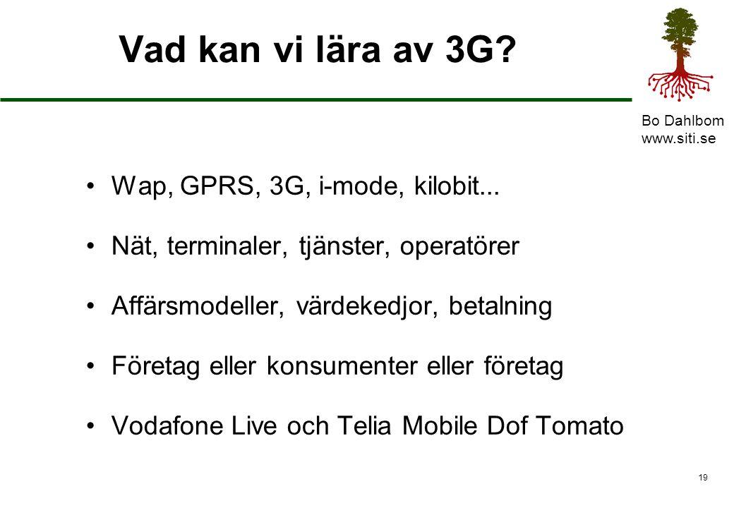Bo Dahlbom www.siti.se 20 Tjänster utövas med IT Varor produceras med maskiner i fabriker Dokument hanteras med datorer på kontor Tjänster utövas på marknaden med IT
