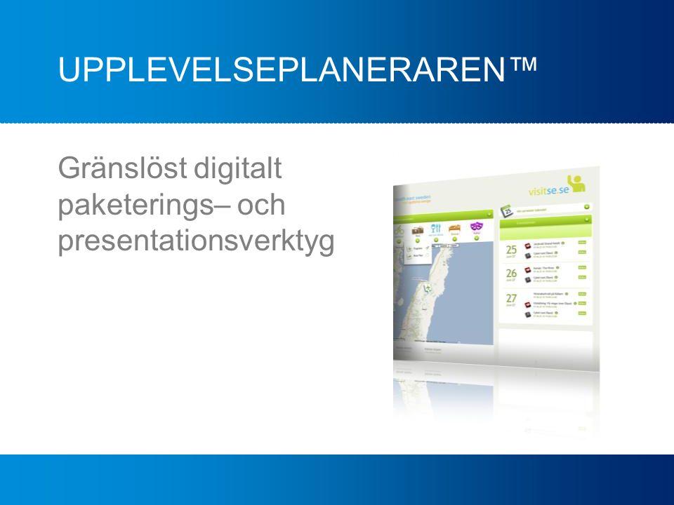 UPPLEVELSEPLANERAREN™ Gränslöst digitalt paketerings– och presentationsverktyg