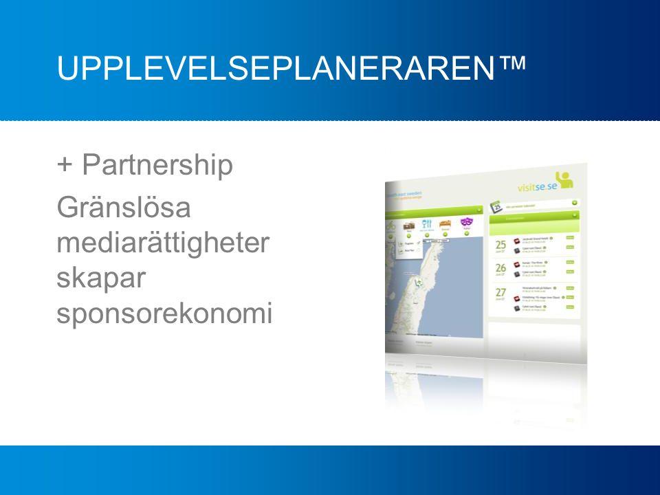 UPPLEVELSEPLANERAREN™ + Partnership Gränslösa mediarättigheter skapar sponsorekonomi