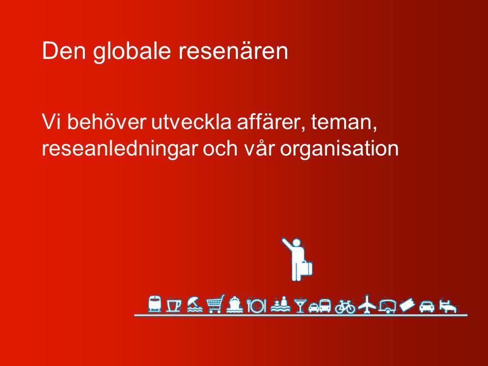 Den globale resenären Vi behöver utveckla affärer, teman, reseanledningar och vår organisation
