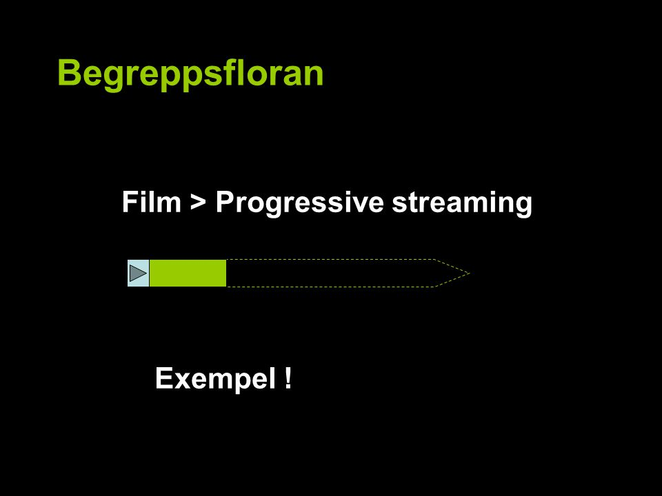 Begreppsfloran Film > Progressive streaming Exempel !