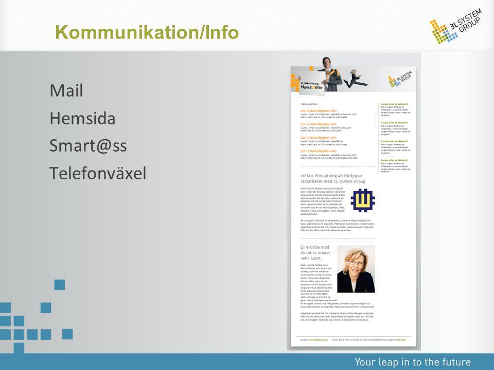 Mail Hemsida Smart@ss Telefonväxel Kommunikation/Info