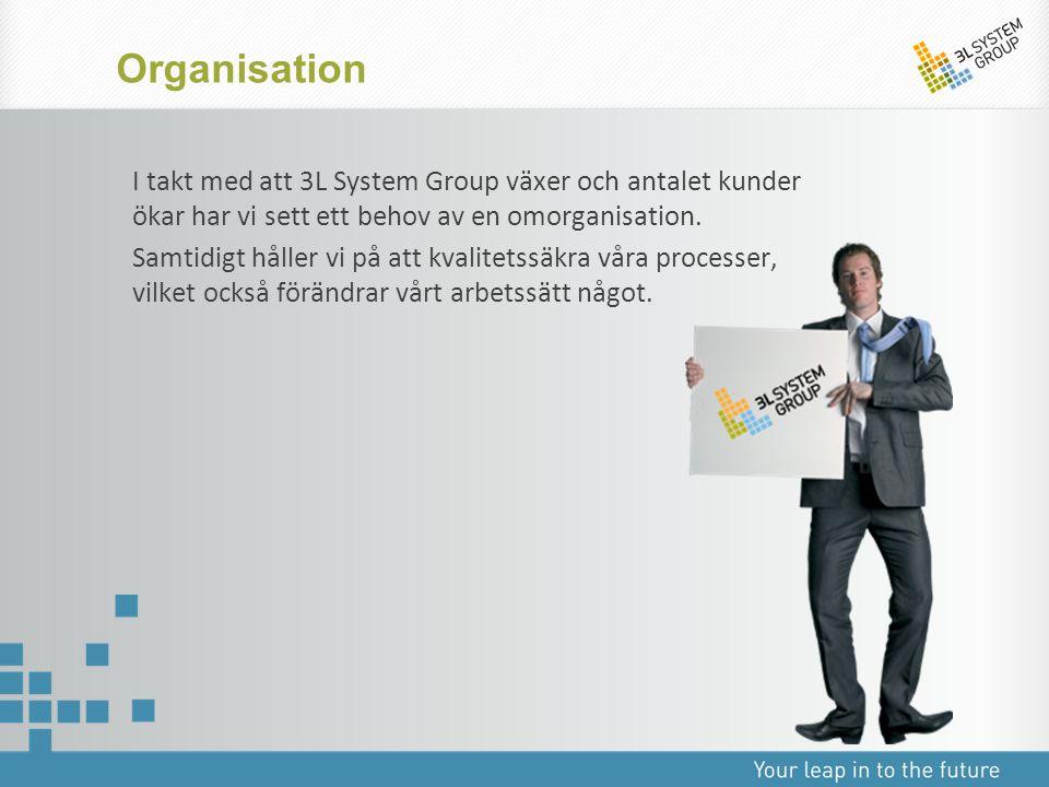 I takt med att 3L System Group växer och antalet kunder ökar har vi sett ett behov av en omorganisation. Samtidigt håller vi på att kvalitetssäkra vår