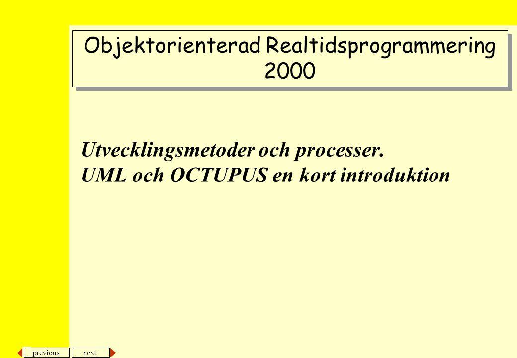 next previous Utvecklingsmetoder och processer.