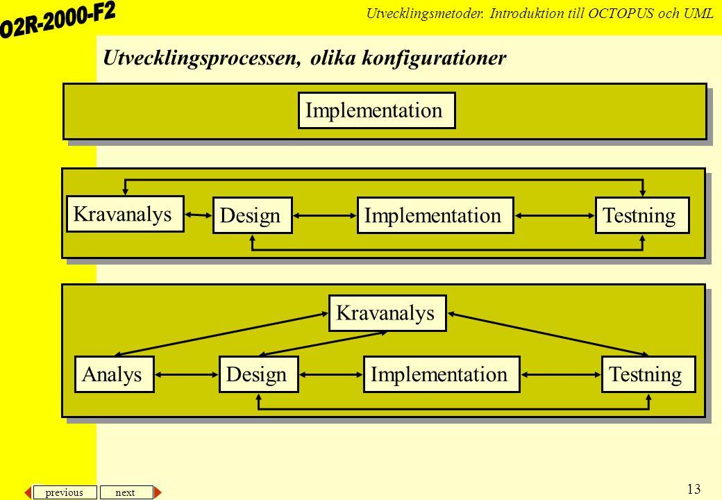 previous next 13 Utvecklingsmetoder.