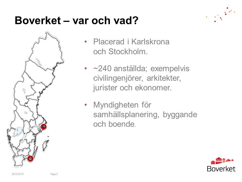 Boverket – var och vad.Placerad i Karlskrona och Stockholm.