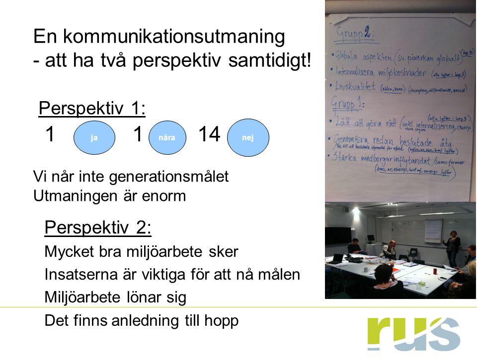 Huvudbudskap FU 2012: -Säkerställ att redan fattade beslut genomförs.