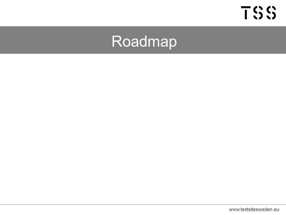 www.testsitesweden.eu Roadmap