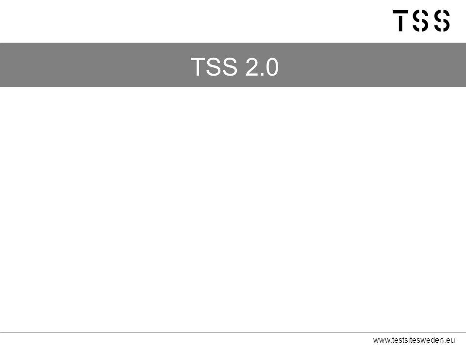 www.testsitesweden.eu TSS 2.0