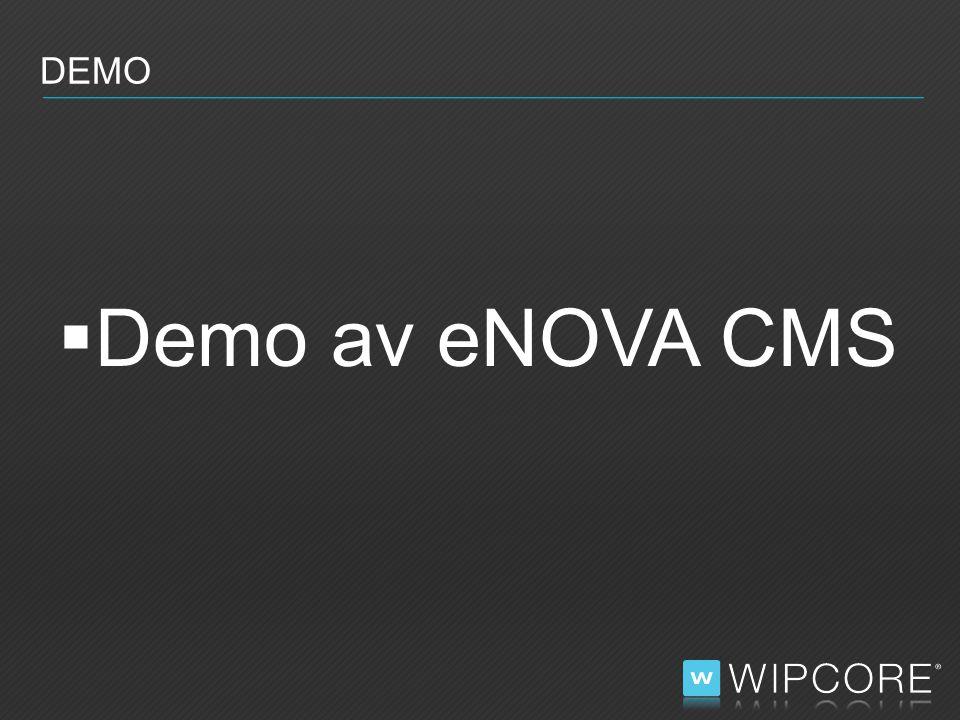  Demo av eNOVA CMS DEMO