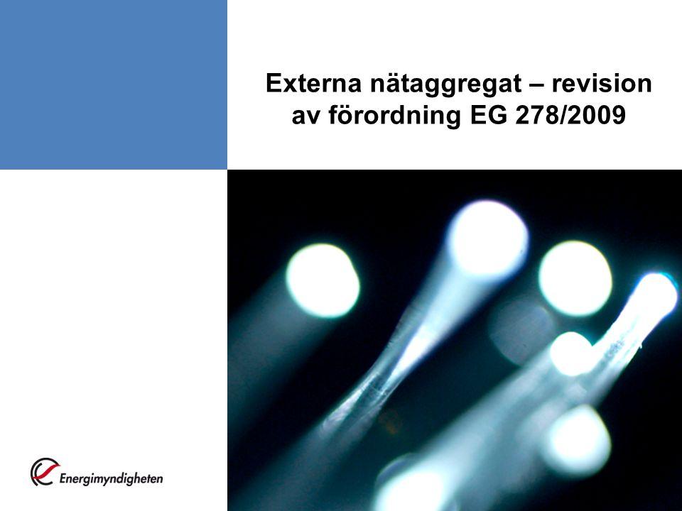 Externa nätaggregat – revision av förordning EG 278/2009