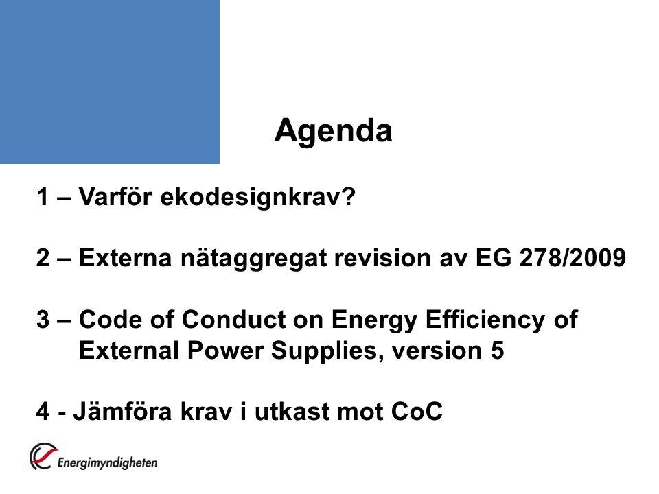 Agenda 1 – Varför ekodesignkrav.