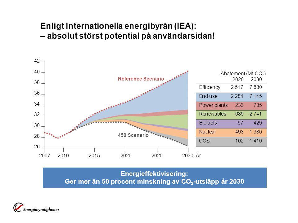 Enligt Internationella energibyrån (IEA): – absolut störst potential på användarsidan.