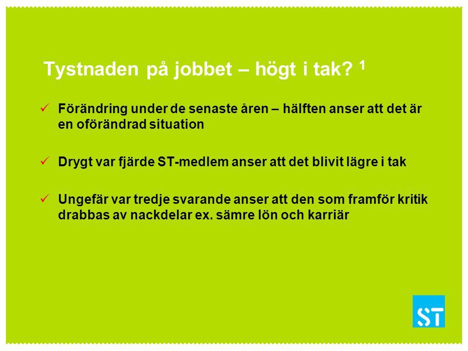 Tystnaden på jobbet – högt i tak.2 Högt i tak är en grundbult i den svenska förvaltningsmodellen.