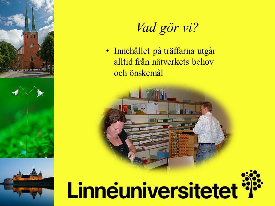 Matematikutveckling i Olofströms kommun 2003-2012 Mikael Gustafsson & Camilla Stridh Vad gör vi? Innehållet på träffarna utgår alltid från nätverkets