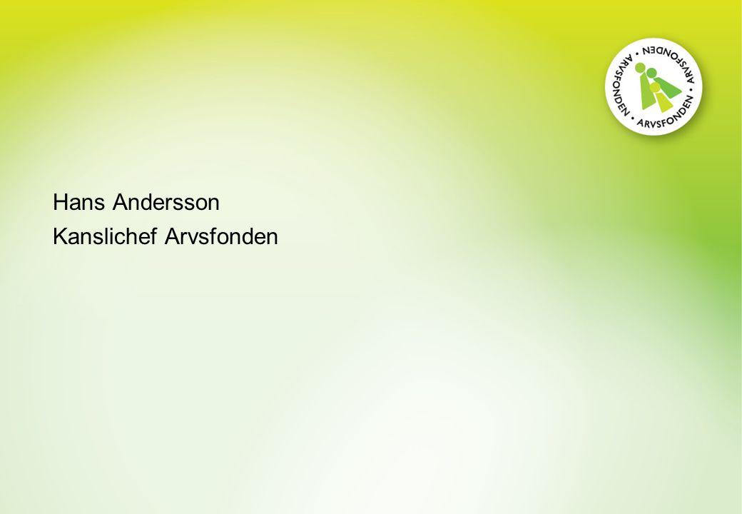 Hans Andersson Kanslichef Arvsfonden