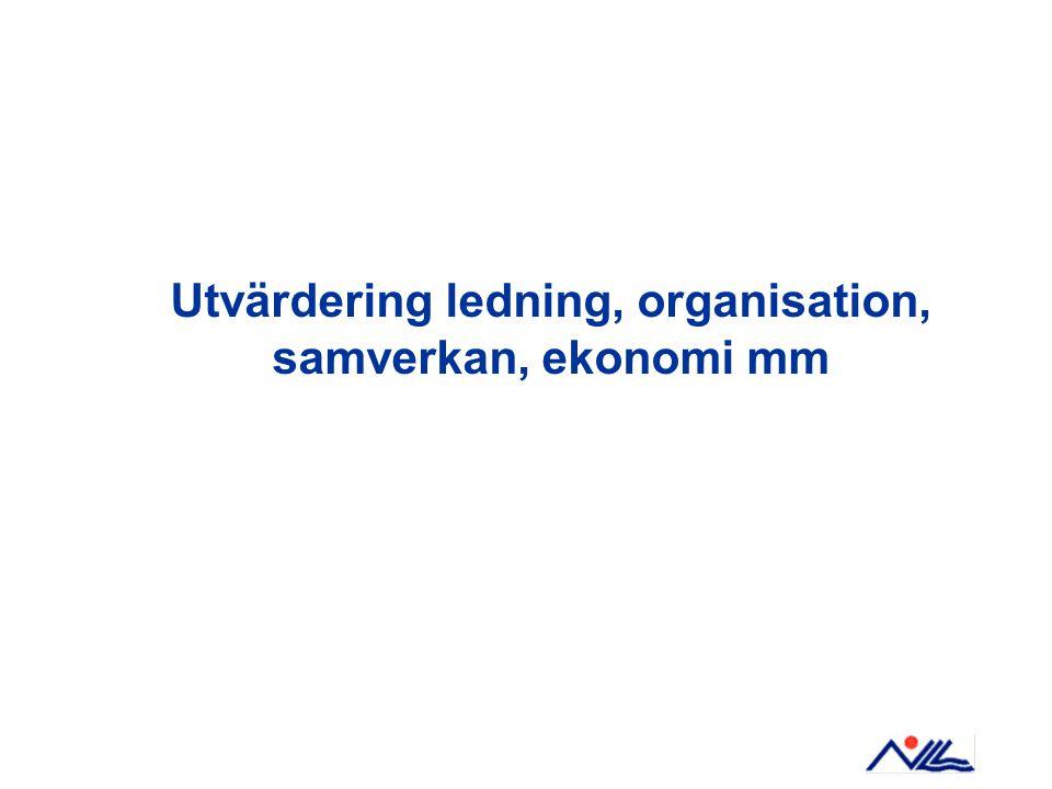 Utvärdering ledning, organisation, samverkan, ekonomi mm