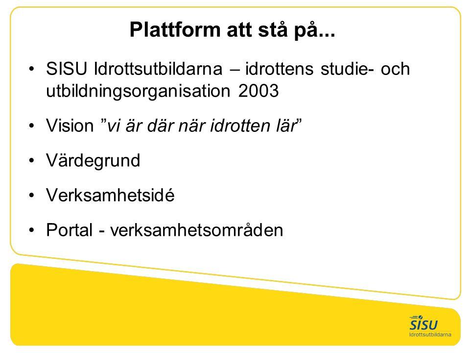 Plattform att stå på...