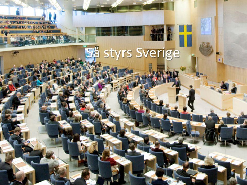 Sveriges grundlagar All offentlig makt i Sverige utgår från folket.