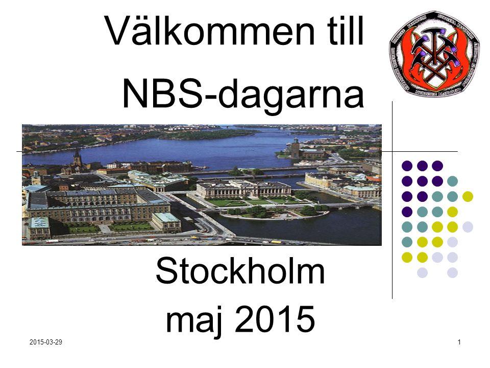 2015-03-291 Välkommen till NBS-dagarna Stockholm maj 2015