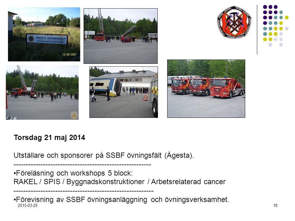 2015-03-2918 Torsdag 21 maj 2014 Utställare och sponsorer på SSBF övningsfält (Ågesta).