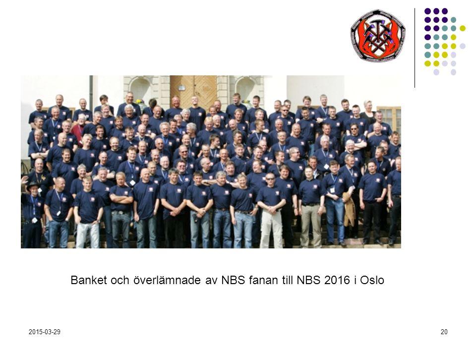 2015-03-2920 Banket och överlämnade av NBS fanan till NBS 2016 i Oslo