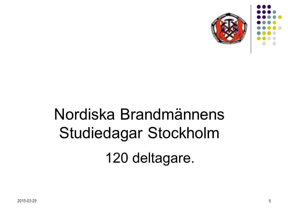 2015-03-296 Nordiska Brandmännens Studiedagar Stockholm 120 deltagare.