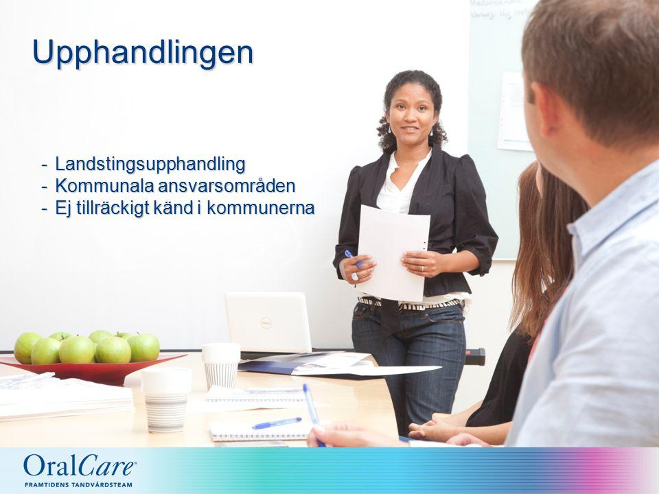 Upphandlingen -Landstingsupphandling -Kommunala ansvarsområden -Ej tillräckigt känd i kommunerna